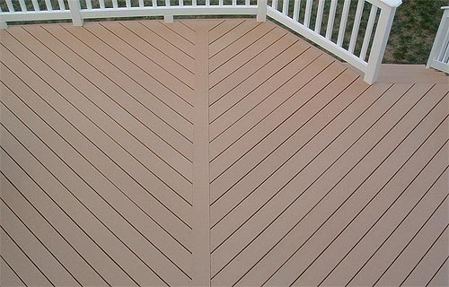 Poly lumber decking railings and railing systems for Recycled decking material