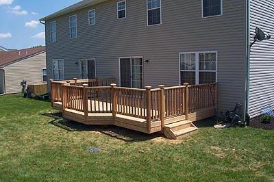 Pressure treated lumber decks deck builders in for 200 sq ft deck